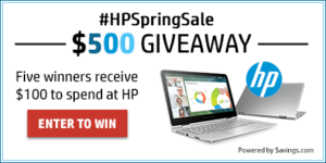 HP Spring Sale + $500 HP Gift Card Giveaway! (ends 3/25)