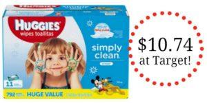 Target: Huggies Simply Clean Wipes 11pk Only $10.74!