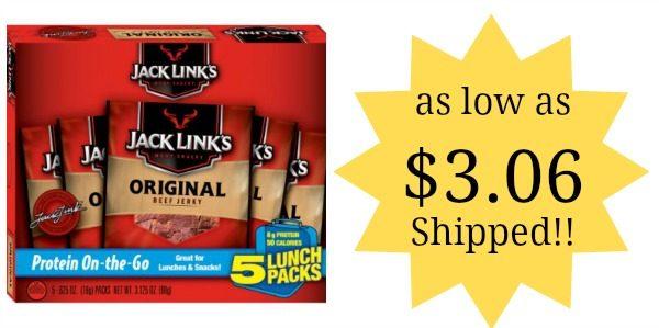 Jack Link's Beef Jerky Snack Packs 5ct as low as $3 06