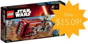 LEGO Star Wars Rey's Speeder Building Kit Just $15.09!