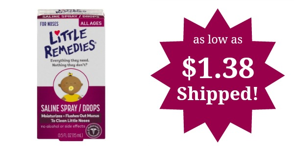 Little Remedies Noses Saline Spray Drops As Low As 1 38