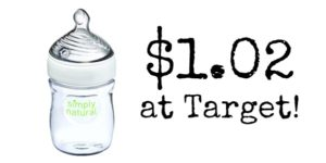 Target: NUK Simply Natural Single Bottle Only $1.02!