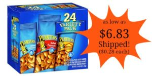 Planters Nut 24 Count-Variety Pack as low as $6.83 Shipped! ($0.28 each)