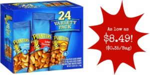 Planters Nut 24 Count-Variety Pack as low as $8.49 ($0.35 each)