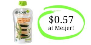 Meijer: Sprout Baby Food Pouches Only $0.57!
