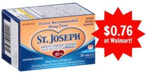 Walmart: St. Joseph Low Dose Aspirin Only $0.76!
