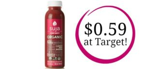 Target: Suja Organic Cold Pressed Juice 12oz Only $0.59!