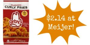 Meijer: Arby's Fries Only $2.14!