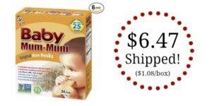 Baby Mum-Mum Rice Rusks Pack of 6 Only $6.47 Shipped! ($1.08/box)
