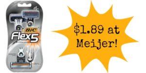 Meijer: Bic Flex Razors Only $1.89!