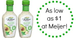 Meijer: Bolthouse Farms Salad Dressing as low as $1!