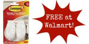 FREE Command Hooks at Walmart!