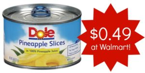 Walmart: Dole Canned Pineapple as low as $0.49!