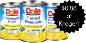 Kroger: Dole Canned Pineapple Only $0.88!