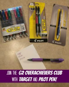 Join the G2 Overachievers Club from Pilot Pen & Target! (Plus, a Giveaway!)