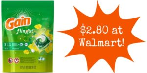 Walmart: Gain Flings Only $2.80!
