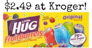 Kroger: Hug Fruit Barrels 20-count Only $2.49!