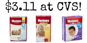 CVS: Huggies Diapers Jumbo Packs as low as $3.11!