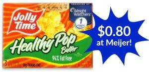 Meijer: Jolly Time Healthy Pop Popcorn 3-pack Only $0.80!