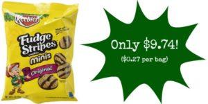 Pack of 36 Keebler Mini Fudge Stripes Cookies Only $9.74 – $0.27 per Bag!!