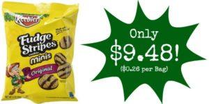 Pack of 36 Keebler Mini Fudge Stripes Cookies Only $9.48 – $0.26 per Bag!!