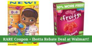 RARE Kellogg's Fruit Snacks Coupon + Ibotta Rebates at Walmart!