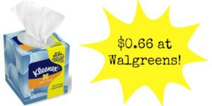 Walgreens: Kleenex Boxes Only $0.66!