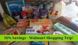 Walmart Shopping Trip – 56% Savings!