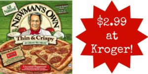 Kroger: Newman's Own Pizza Only $2.99!