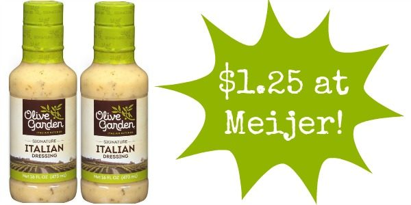 Meijer Olive Garden Salad Dressing Only Become A Coupon Queen
