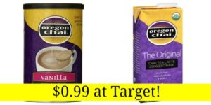 Target: Oregon Chai Latte Mix or Concentrate Only $0.99!