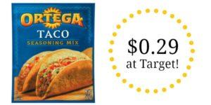 Target: Ortega Taco Seasoning Mix Only $0.29!