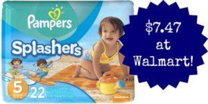 Walmart: Pampers Splashers Only $7.47!