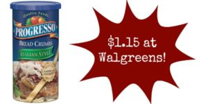 Walgreens: Progresso Bread Crumbs Only $1.15!
