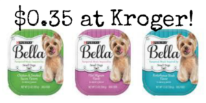 Kroger: Purina Bella Dog Food Trays Only $0.35!