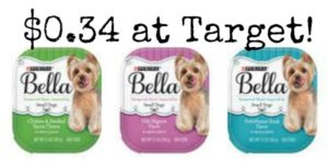 Target: Purina Bella Dog Food Trays Only $0.34!