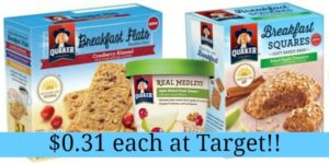 Target: Quaker Breakfast Products Only $0.31!