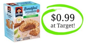Target: Quaker Breakfast Squares Only $0.99!