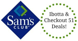 Ibotta and Checkout 51 Rebate Deals at Sam's Club!