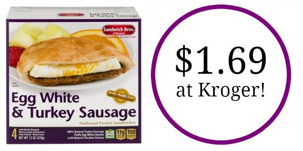 sandwich bros egg white and turkey sausage