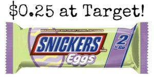 Target: Snickers Easter Candy Only $0.25!