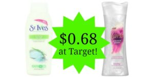 Target: St. Ives and Caress Body Wash Only $0.68!