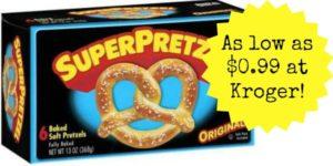 Kroger: SuperPretzel Baked Soft Pretzels as low as $0.99!