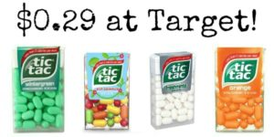 Target: Tic Tac Mints Only $0.29!