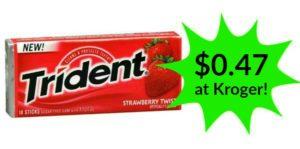 Kroger: Trident Gum Only $0.47!