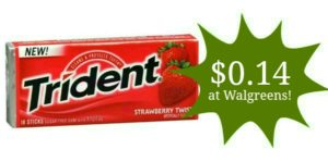 Walgreens: Trident Gum Only $0.14!