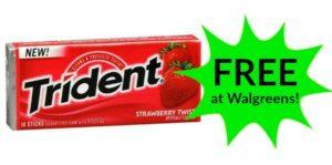 FREE Trident Gum at Walgreens!