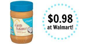 Walmart: Earth Balance Creamy Coconut & Peanut Spread Only $0.98!