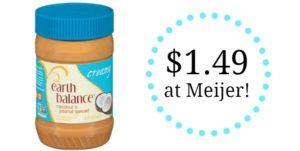 Meijer: Earth Balance Nut Butter Only $1.49!