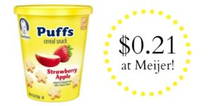 Meijer: Gerber Graduates Puffs Snack Cups Only $0.21!